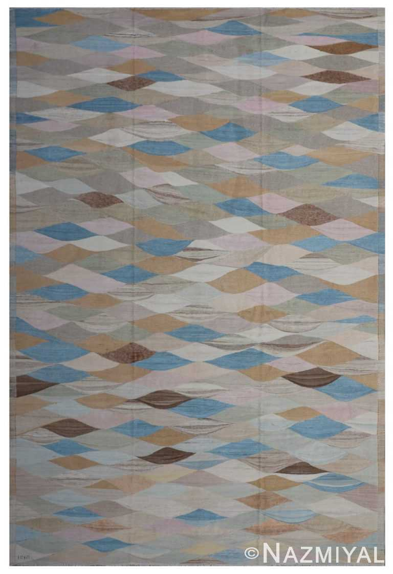 Modern Flat Weave Rug 801864413 by Nazmiyal NYC