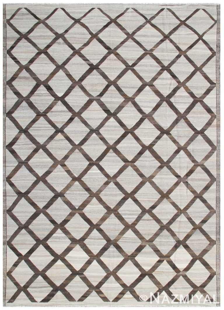 Modern Flat Weave Rug 801915855 by Nazmiyal NYC