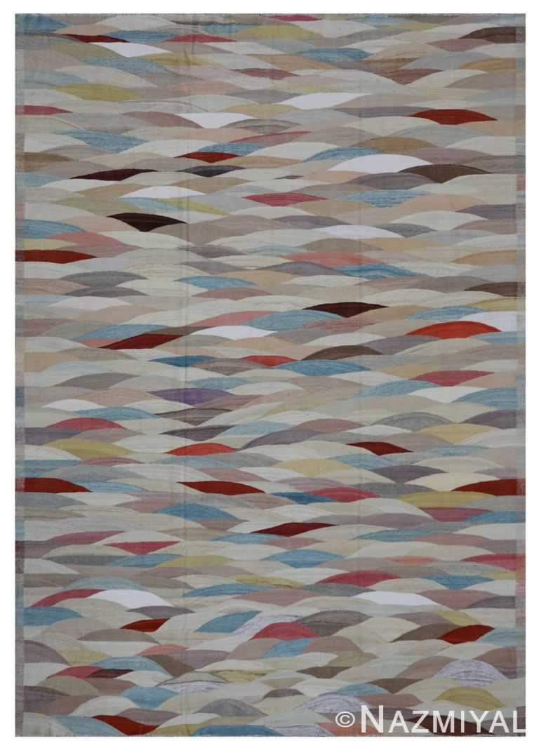 Modern Flat Weave Rug 802087094 by Nazmiyal NYC
