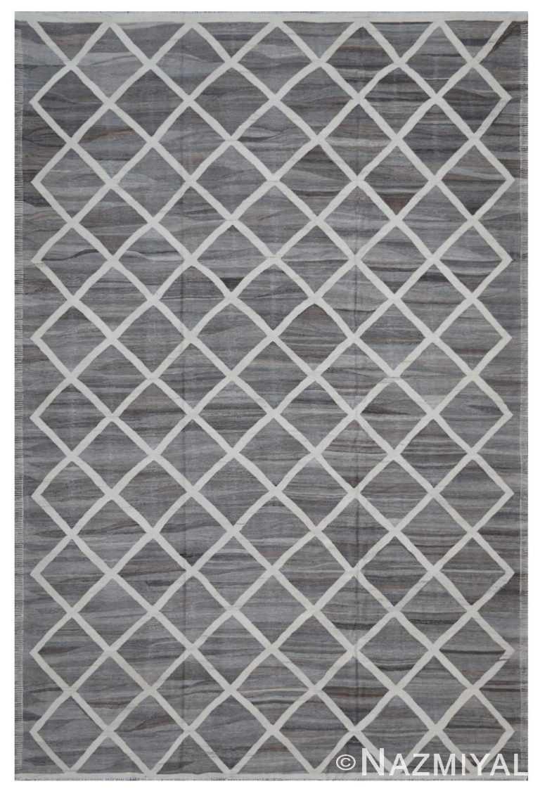 Modern Flat Weave Rug 802087621 by Nazmiyal NYC