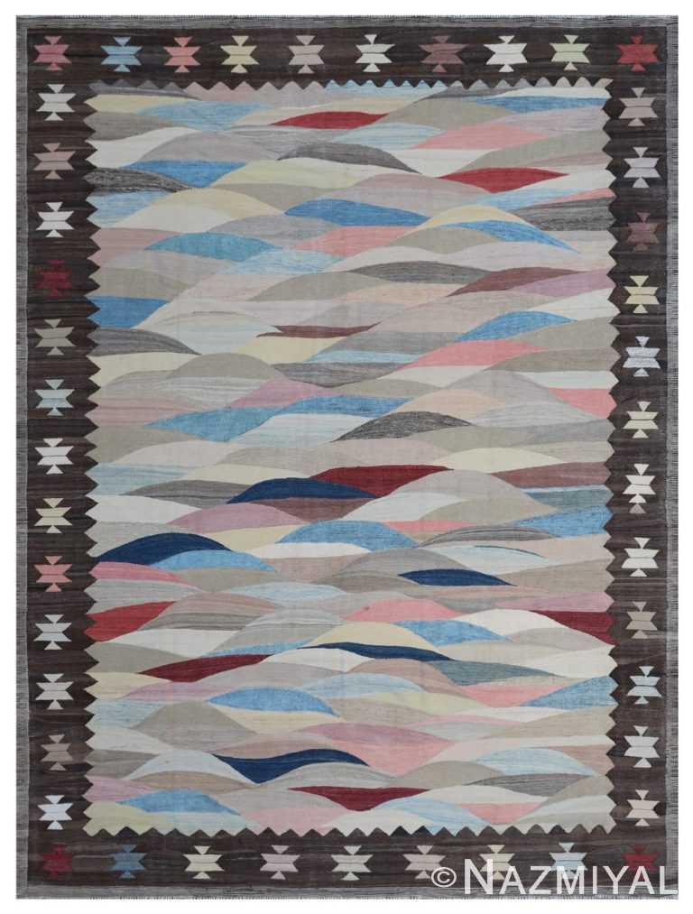 Modern Flat Weave Rug 802088362 by Nazmiyal NYC