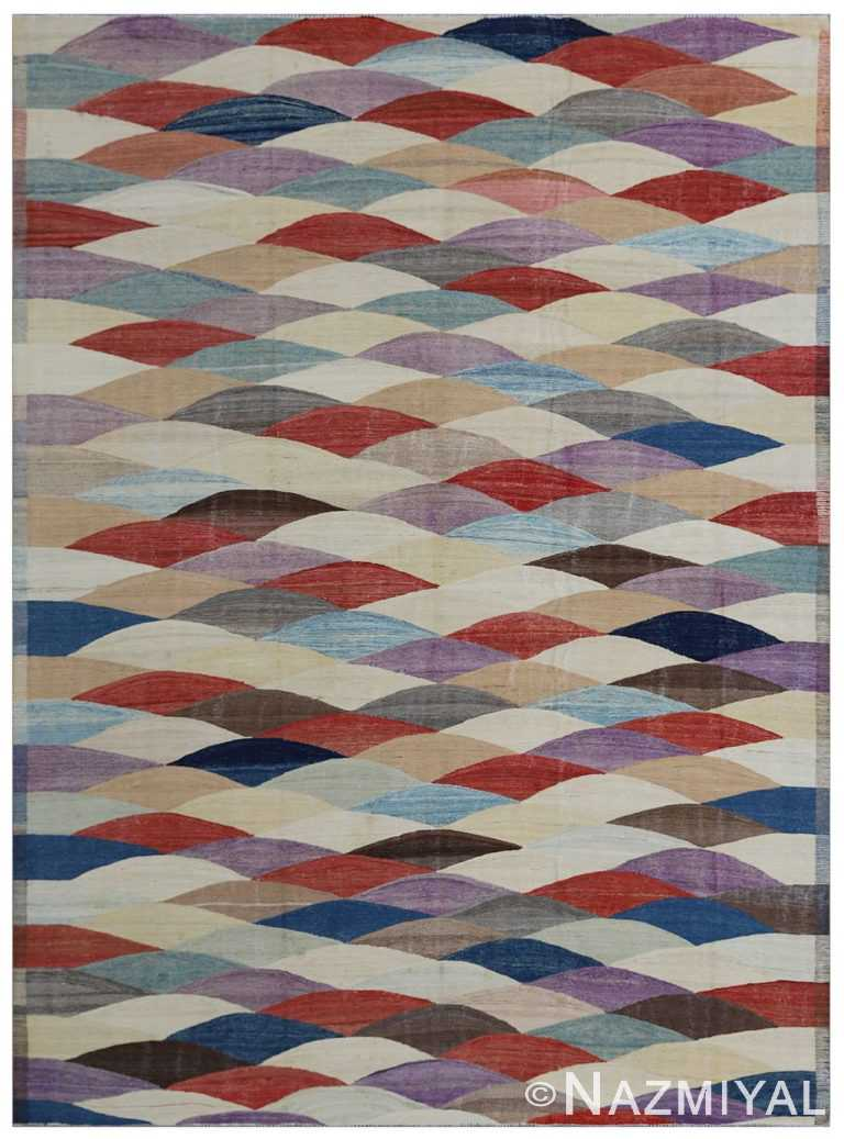 Modern Flat Weave Rug 802088615 by Nazmiyal NYC