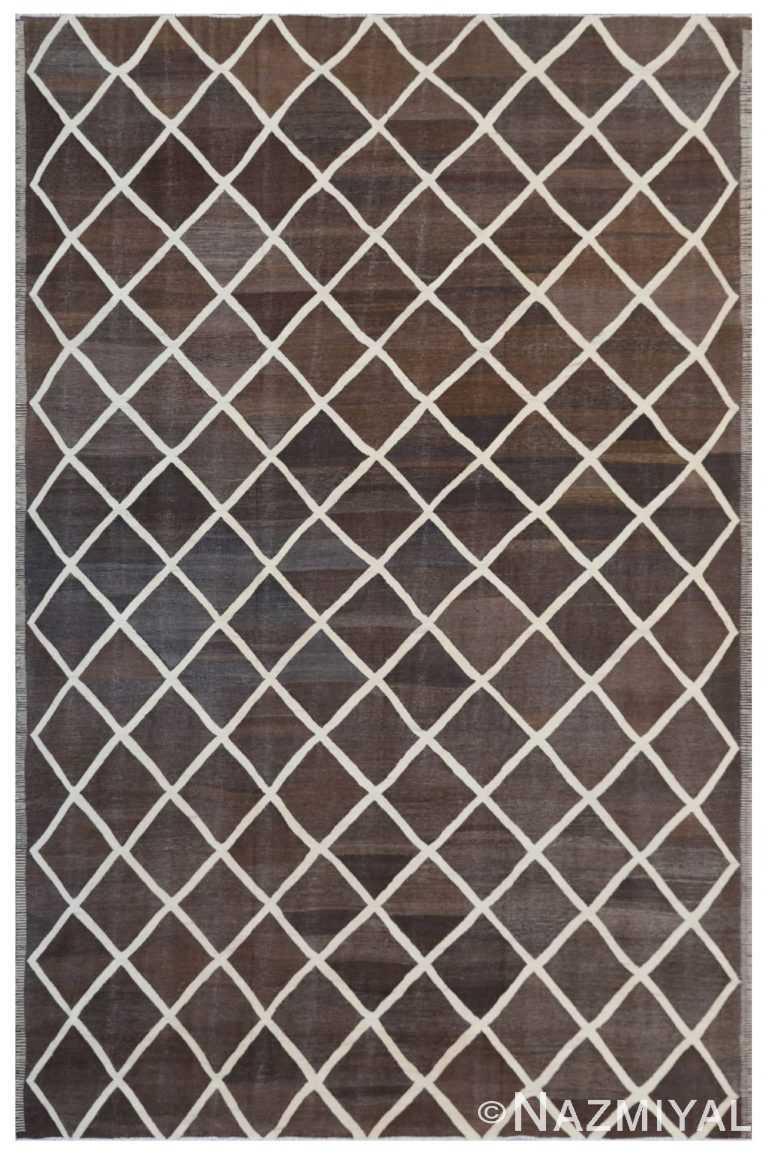 Modern Flat Weave Rug 802088758 by Nazmiyal NYC