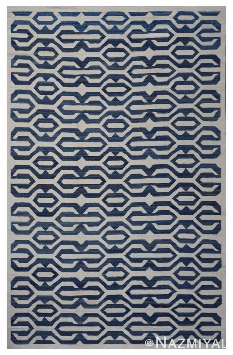 Modern Flat Weave Rug 802088810 by Nazmiyal NYC