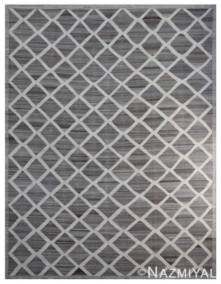 Modern Flat Weave Rug 802090143 by Nazmiyal NYC