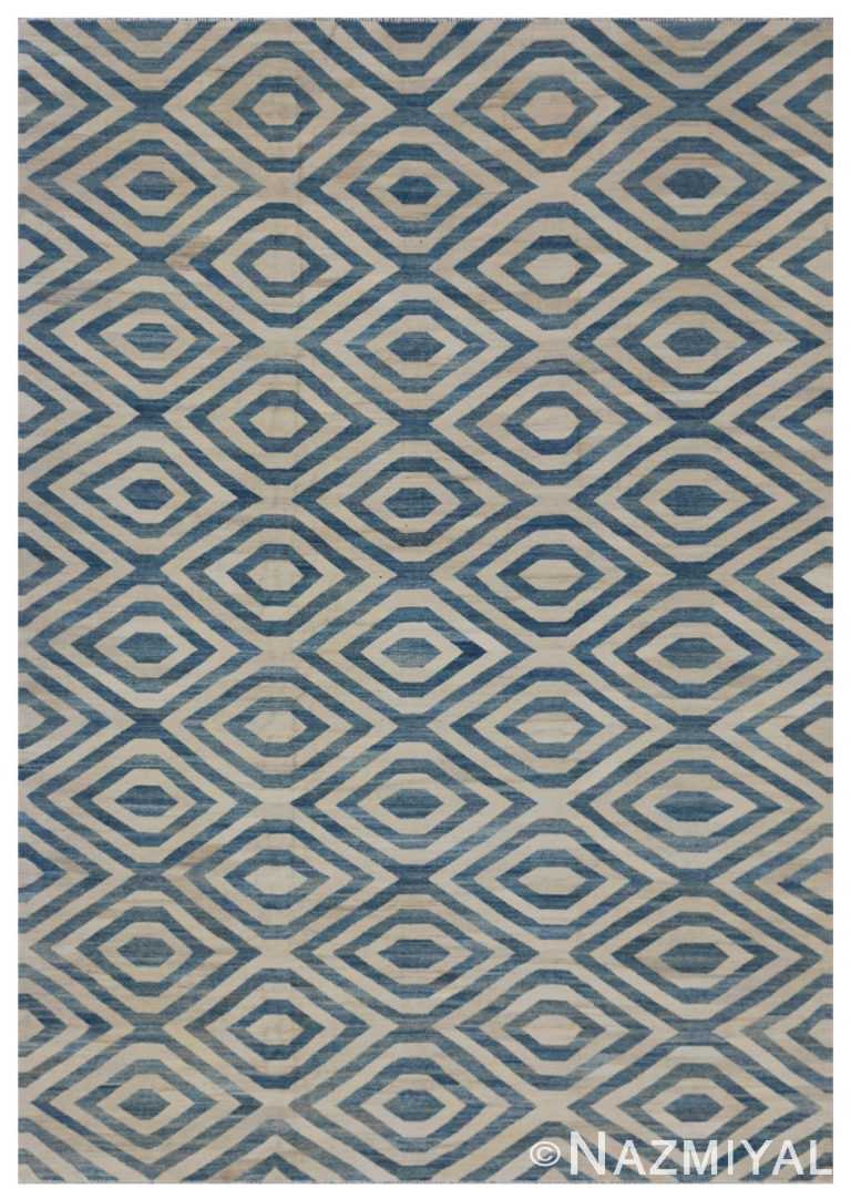 Modern Flat Weave Rug 802090759 by Nazmiyal NYC