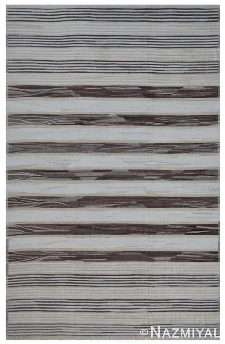 Modern Flat Weave Rug 802104490 by Nazmiyal NYC