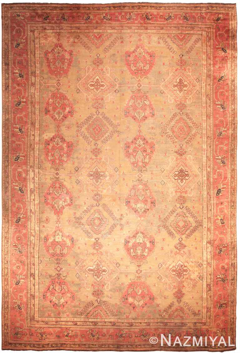 Oversized Antique Turkish Oushak Rug 50199 Nazmiyal NYC
