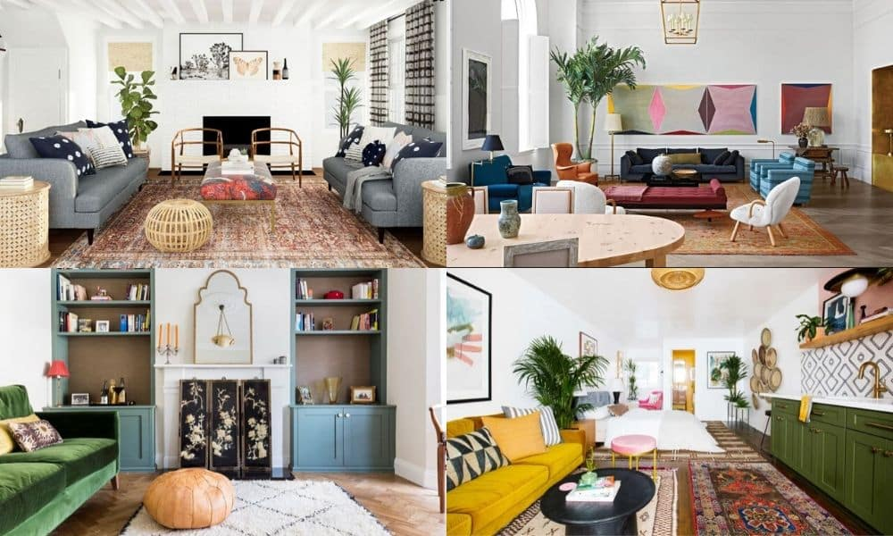 Eclectic Interior Design With Beautiful Rugs Nazmiyal