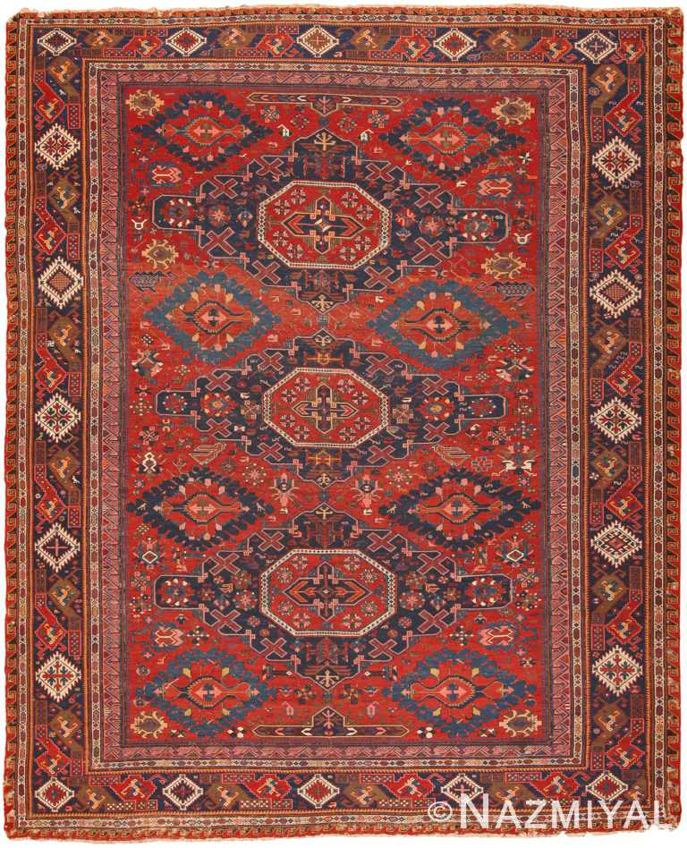 Antique Caucasian Soumak Rug 70388 by Nazmiyal NYC