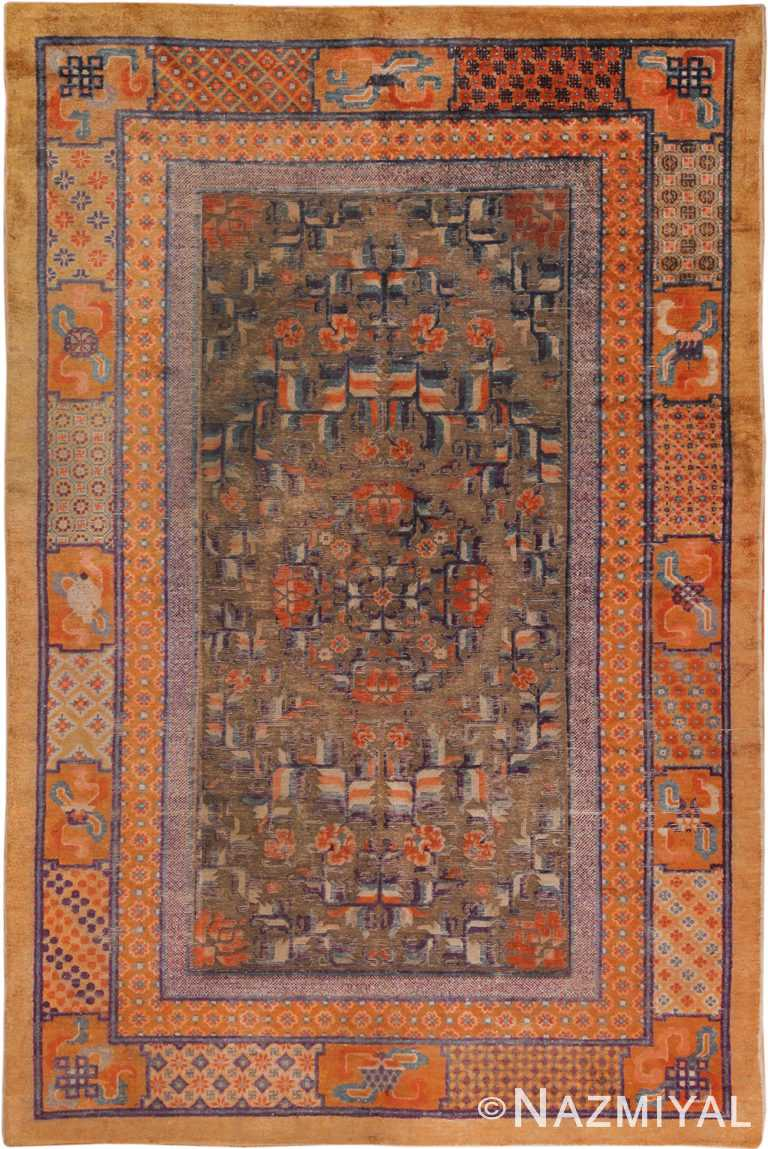 Beautiful Antique Chinese Silk Rug 70313 Nazmiyal Antique Rugs