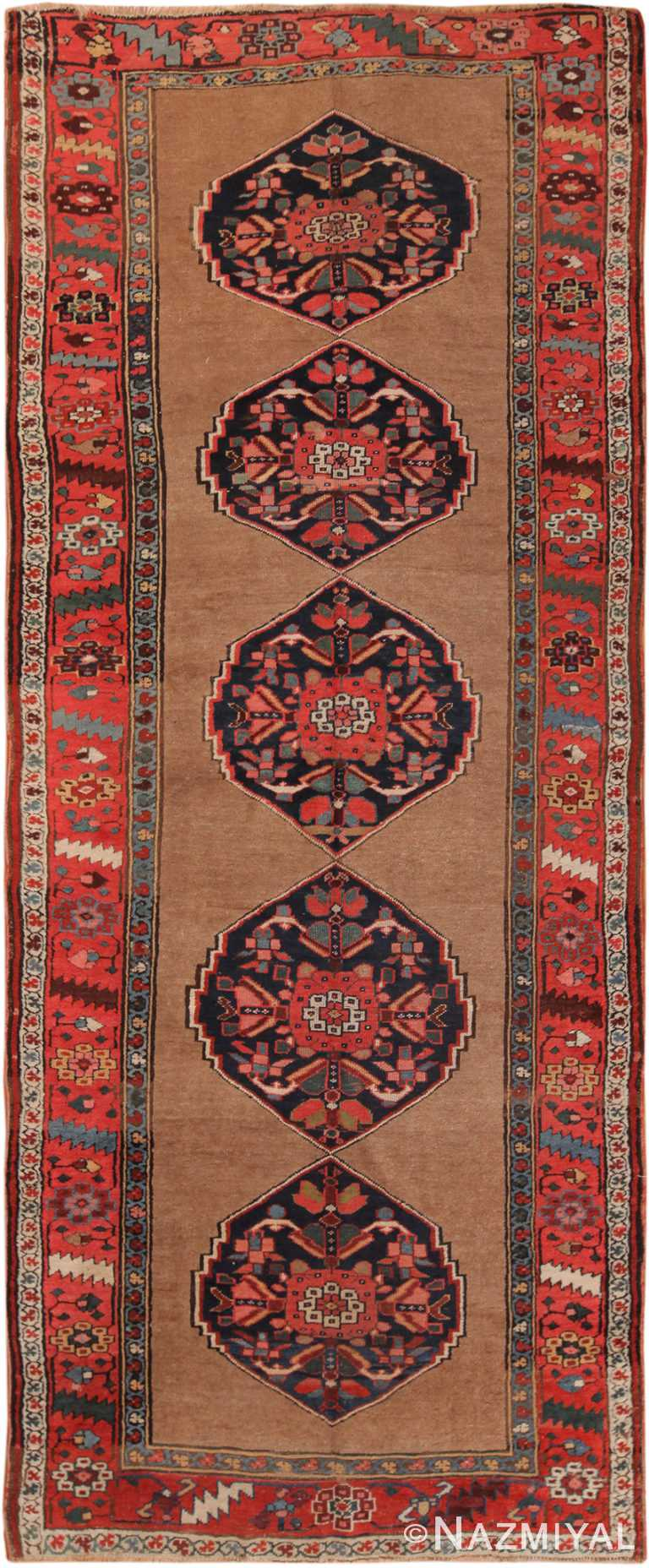 Antique Persian Kurdish Bidjar Runner Rug 70325 by Nazmiyal NYC