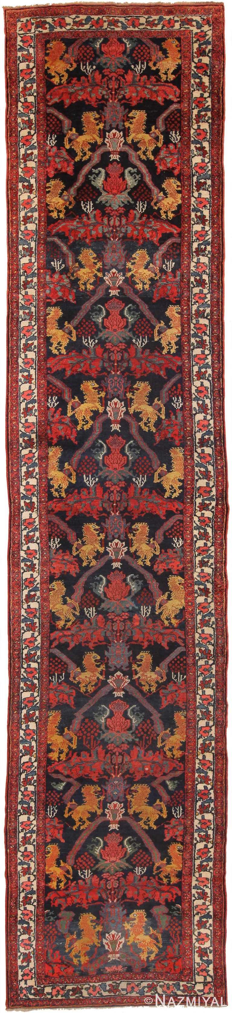 Antique Persian Kurdish Bidjar Runner Rug 70310 by Nazmiyal NYC