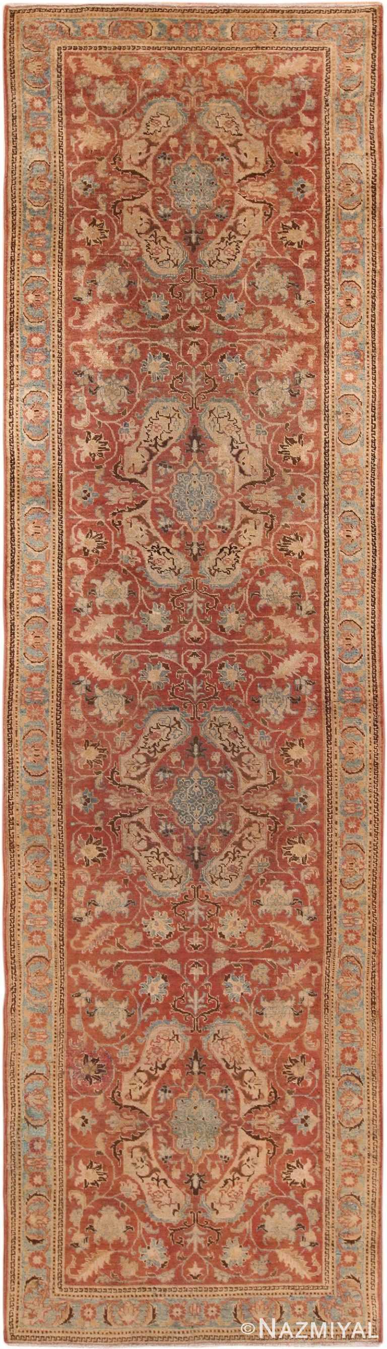 Antique Persian Tabriz Runner Rug 70287 by Nazmiyal NYC