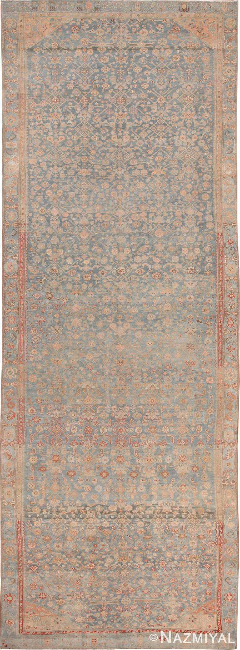 Light Blue Antique Persian Malayer Rug 70434 by Nazmiyal NYC