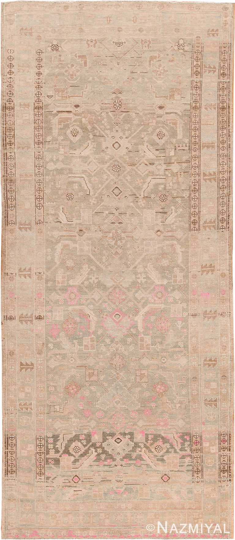 Decorative Tribal Antique Persian Malayer Runner Rug 70437 by Nazmiyal NYC