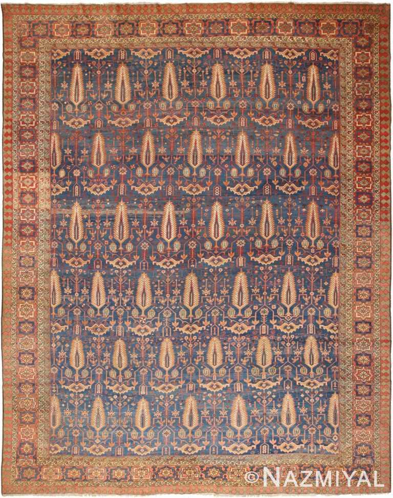 Large Antique Persian Bakshaish Rug 70432 by Nazmiyal NYC