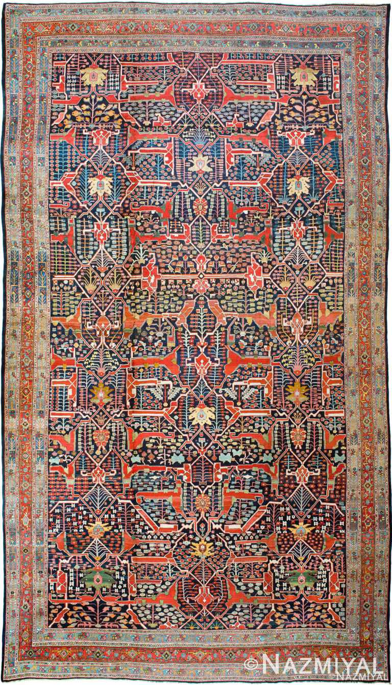 Antique Persian Bidjar Carpet by Nazmiyal Rugs