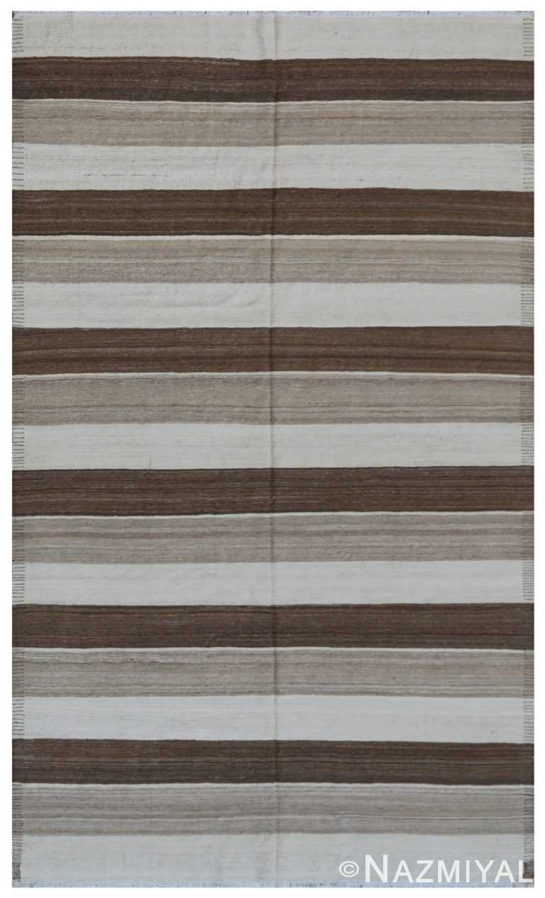 Modern Flat Weave Rug 801328217 by Nazmiyal NYC