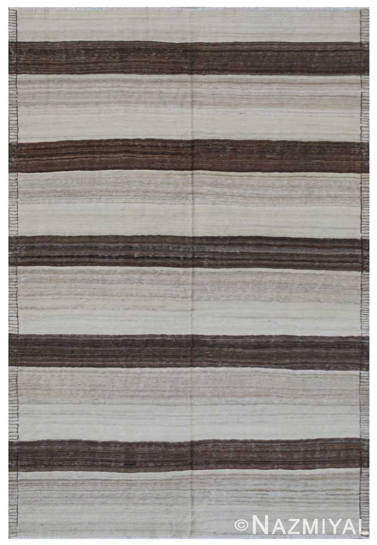 Modern Flat Weave Rug 801333362 by Nazmiyal NYC
