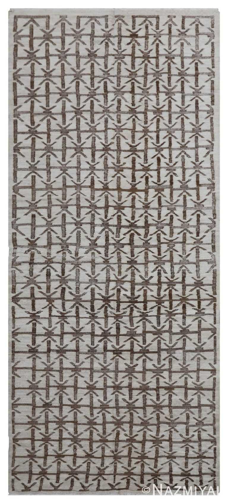 Modern Flat Weave Rug 801459260 by Nazmiyal NYC