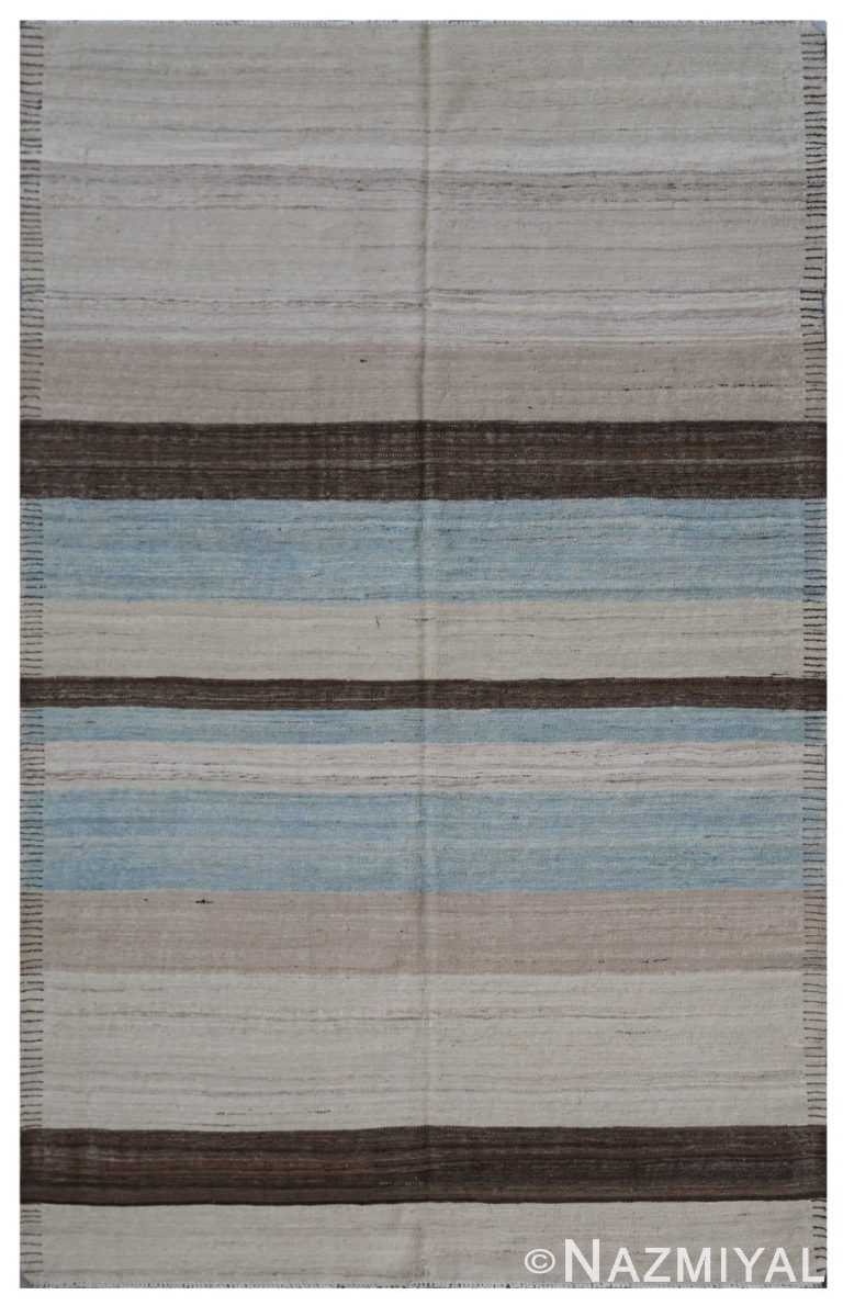 Modern Flat Weave Rug 801654409 by Nazmiyal NYC