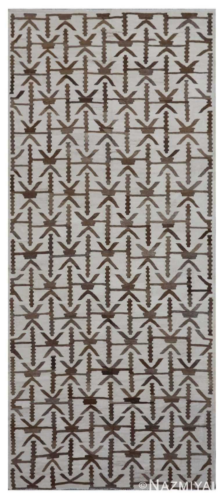 Modern Flat Weave Rug 801780371 by Nazmiyal NYC