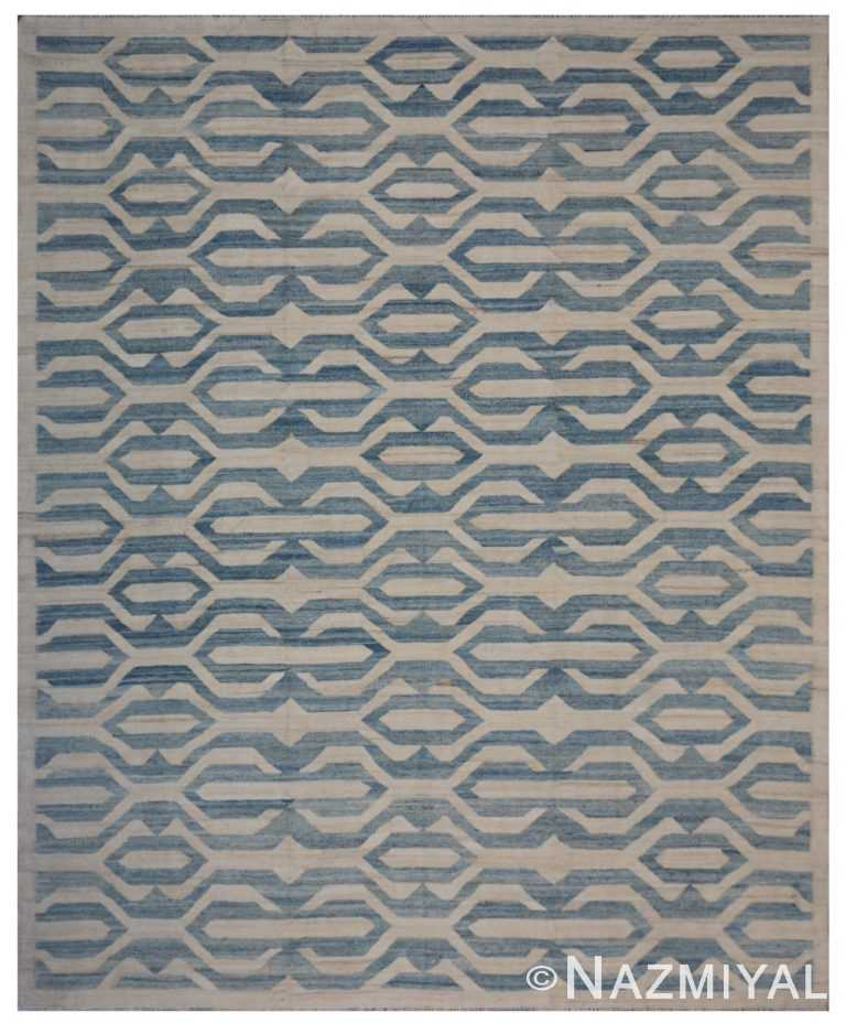 Modern Flat Weave Rug 802090017 by Nazmiyal NYC