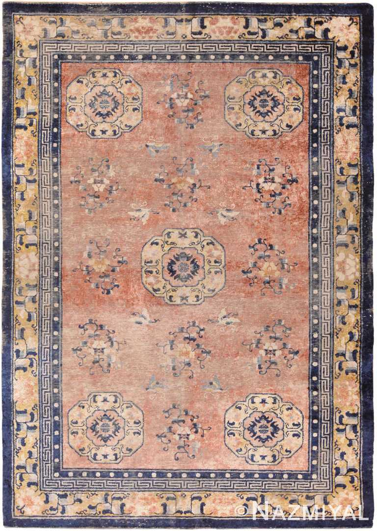 Antique Shabby Chic Silk Chinese Rug 70303 by Nazmiyal NYC