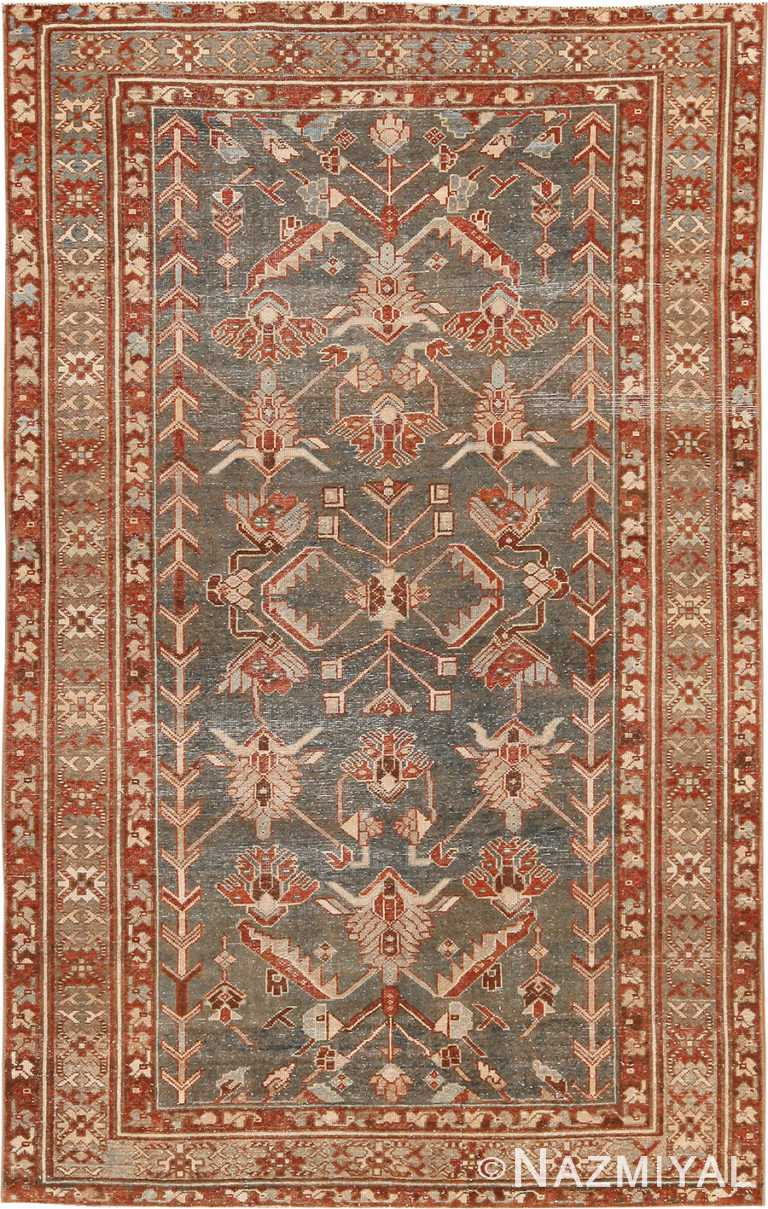 Tribal Earth Tone Persian Malayer Rug 70443 Nazmiyal