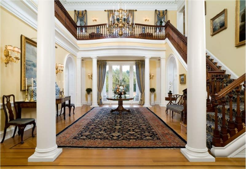 American Colonial Interior Design American Rugs For Colonial Interiors
