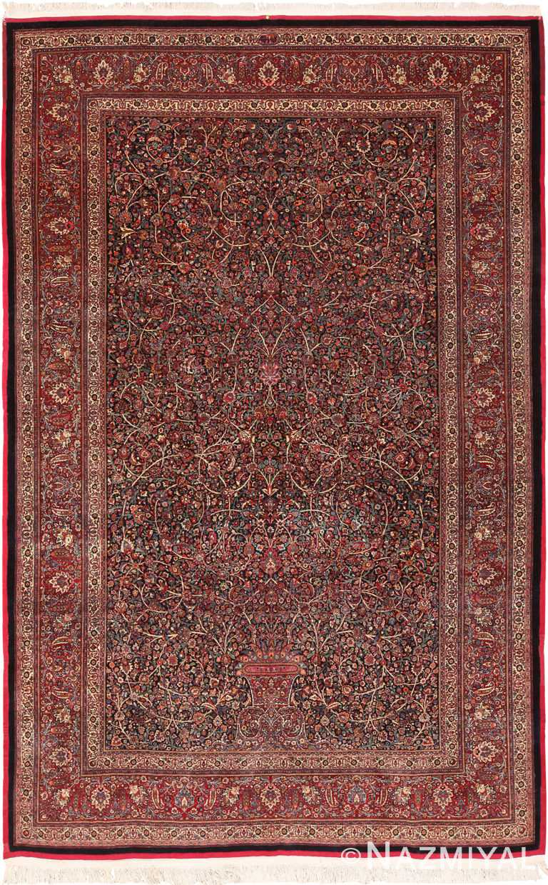 Antique Persian Mashad Amoghli Rug 70395 by Nazmiyal NYC