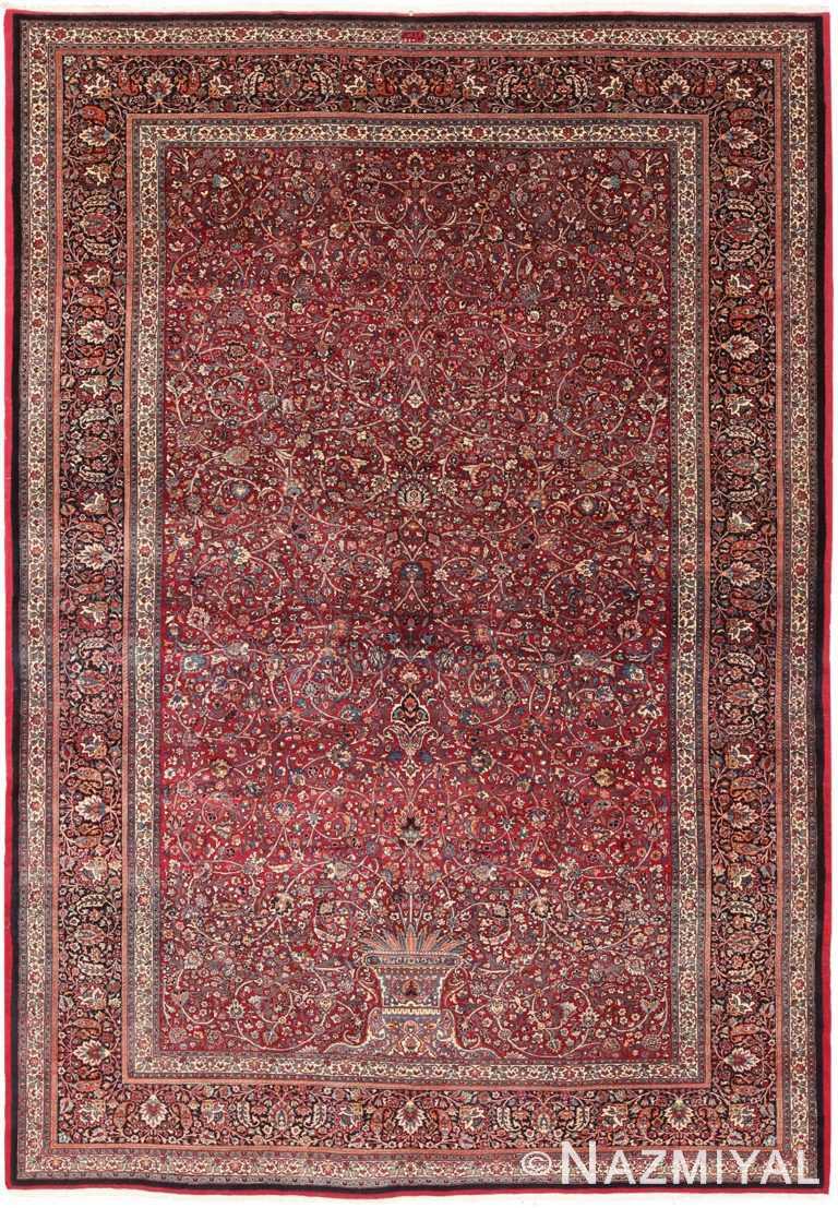 Antique Persian Mashad Amoghli Rug 70396 by Nazmiyal NYC