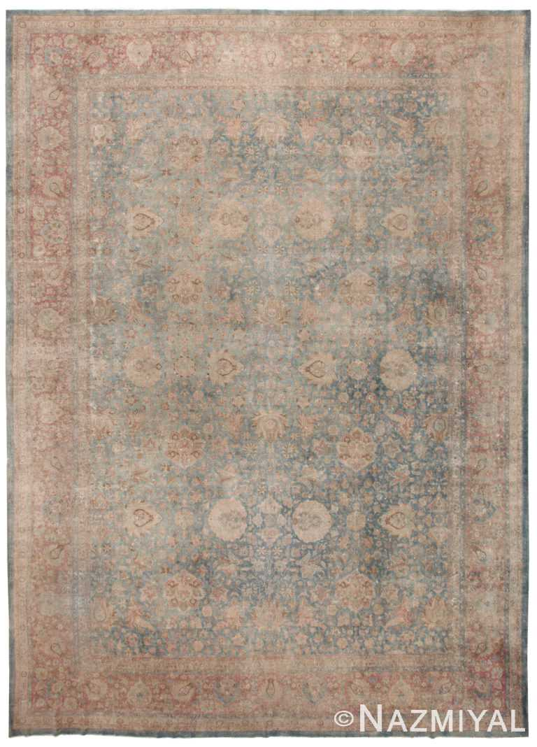 Blue Antique Persian Kerman Rug 50077 by nazmiyal