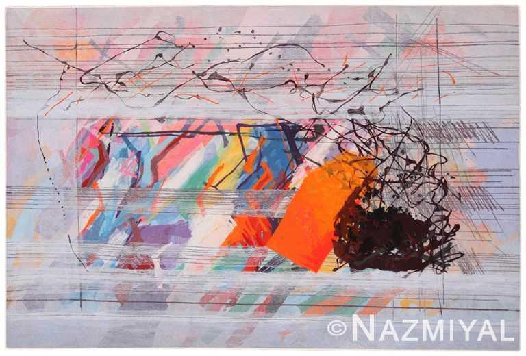Vintage Art Expressionist Calman Shemi Rug 70478 by Nazmiyal NYC