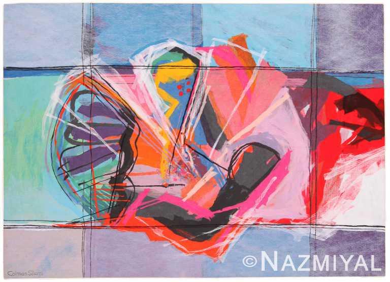 Vintage Art Expressionist Calman Shemi Rug 70479 by Nazmiyal NYC