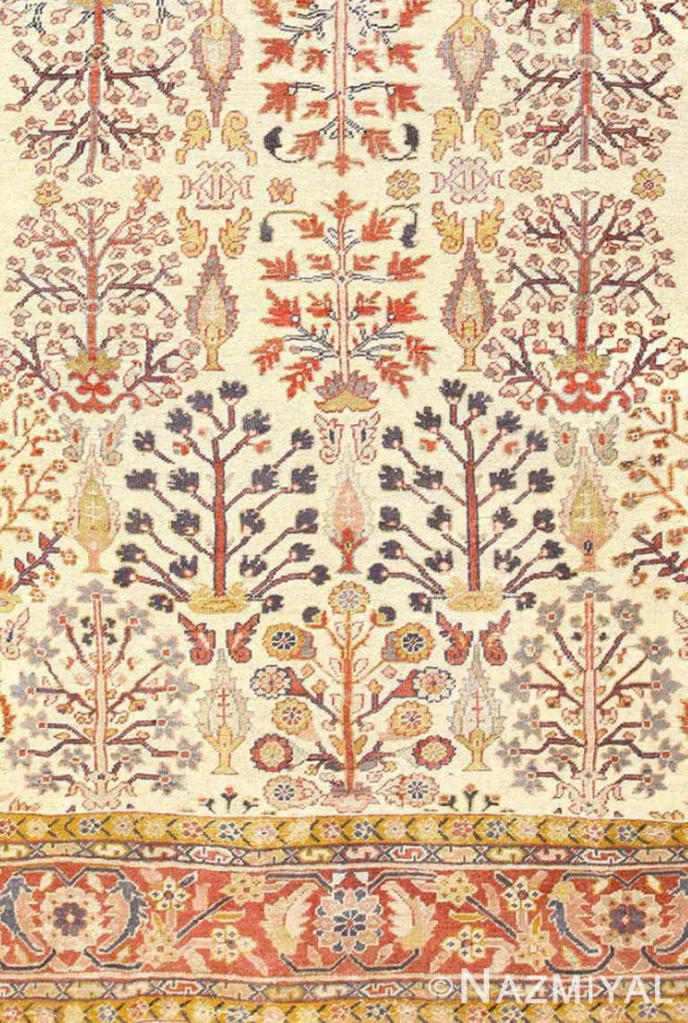 Bottom Antique Persian Sultanabad Rug 50095 by Nazmiyal NYC