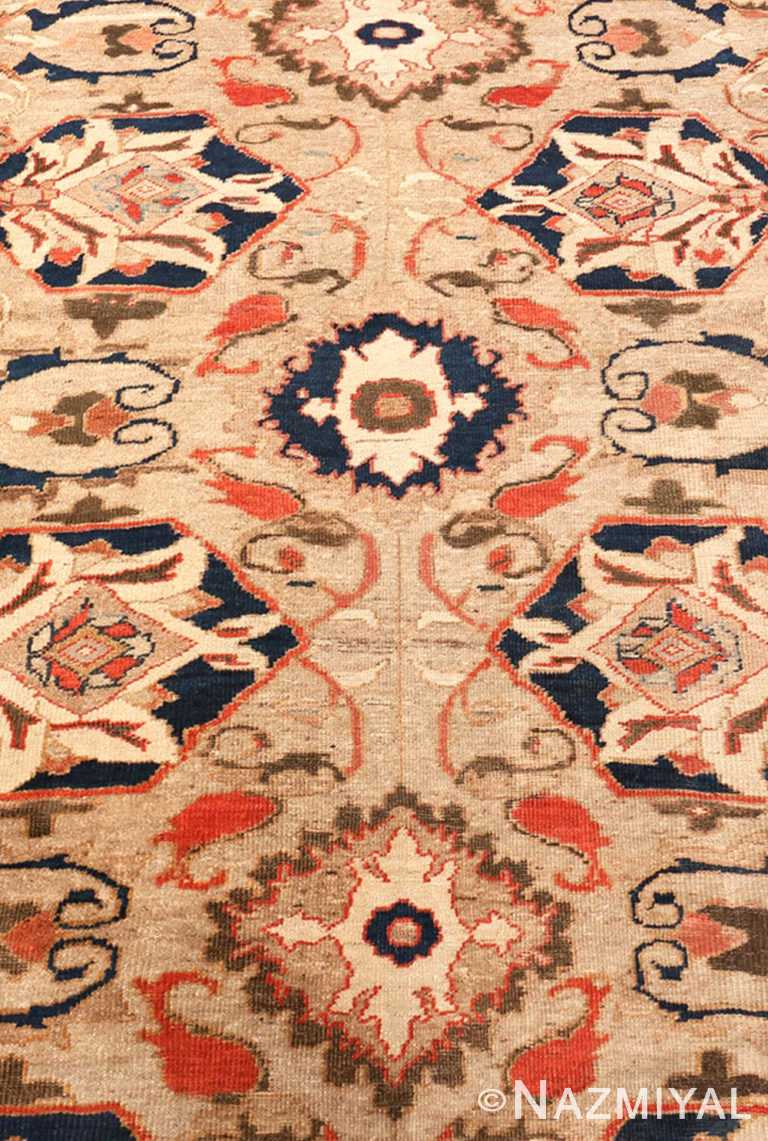 Close Up Antique Persian Sultanabad by Ziegler rug 48150 by Nazmiyal NYC