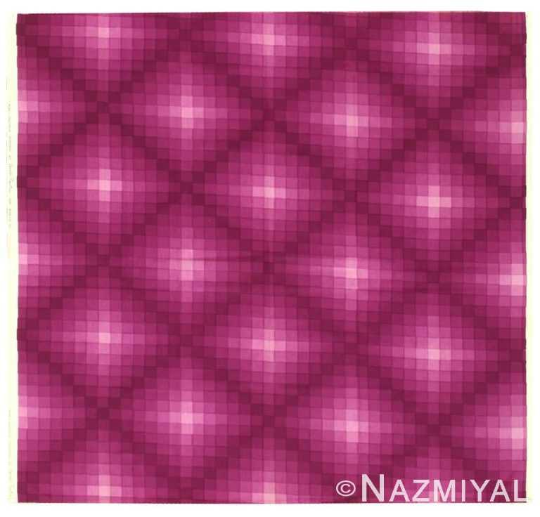 "Vintage Scandinavian Verner Panton ""Checkers II"" Textile 47848 by Nazmiyal NYC"