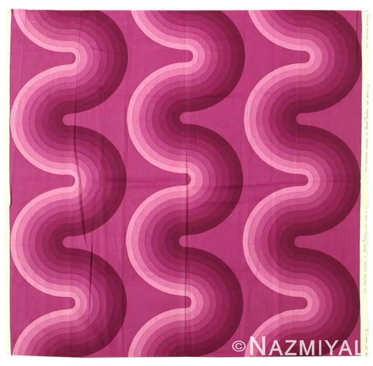 "Vintage Scandinavian Verner Panton ""Kurve"" Textile 47847 by Nazmiyal NYC"