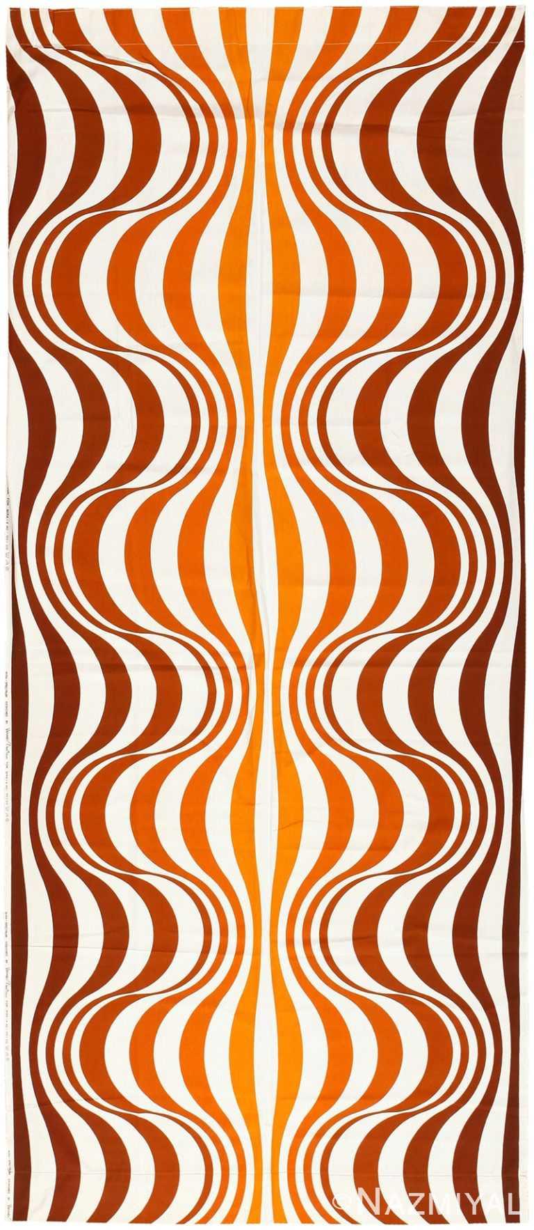"""Vintage Scandinavian Verner Panton """"Mira Spectrum"""" Textile 47832 by Nazmiyal NYC"""