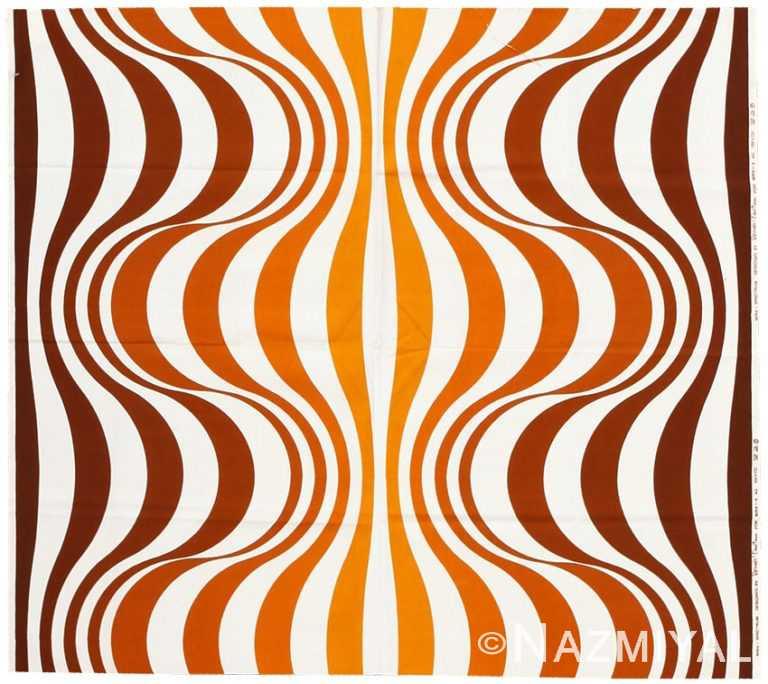 """Vintage Scandinavian Verner Panton """"Mira Spectrum"""" Textile 47833 by Nazmiyal NYC"""