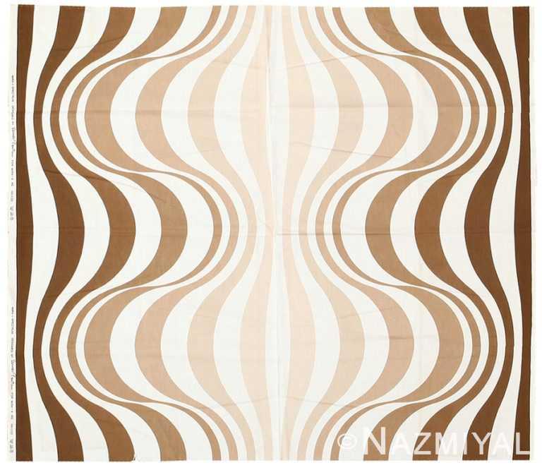 """Vintage Scandinavian Verner Panton """"Mira Spectrum"""" Textile 47834 by Nazmiyal NYC"""