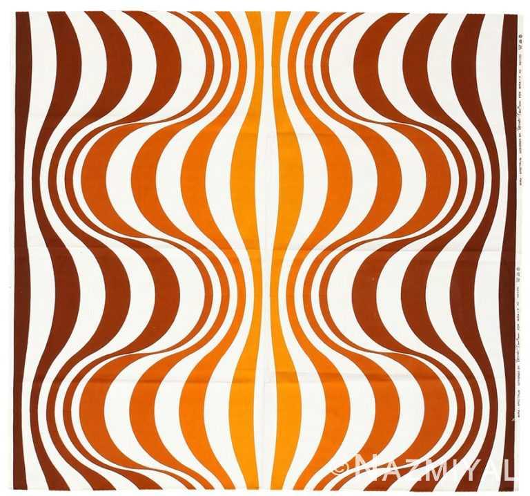 """Vintage Scandinavian Verner Panton """"Mira Spectrum"""" Textile 47835 by Nazmiyal NYC"""