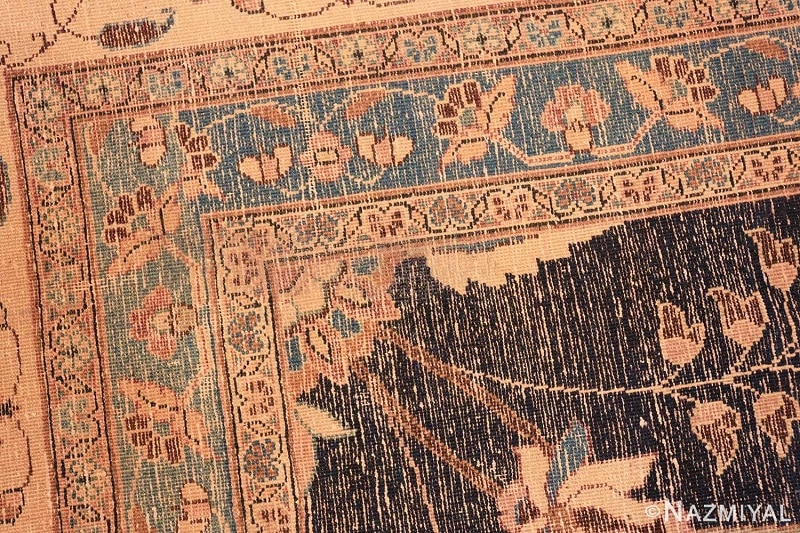 Picture of the back / underside of an antique Persian rug from Nazmiyal Antique Rugs in NYC
