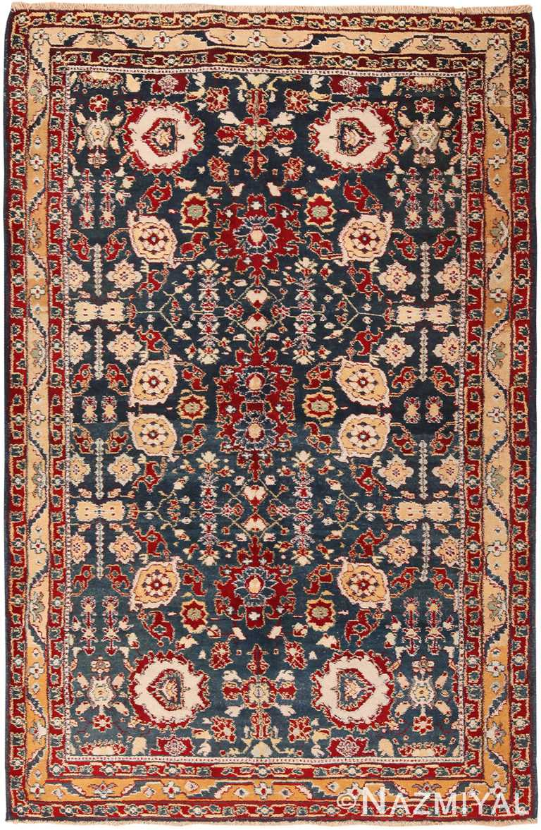 Antique Indian Agra Rug 70488 by Nazmiyal NYC