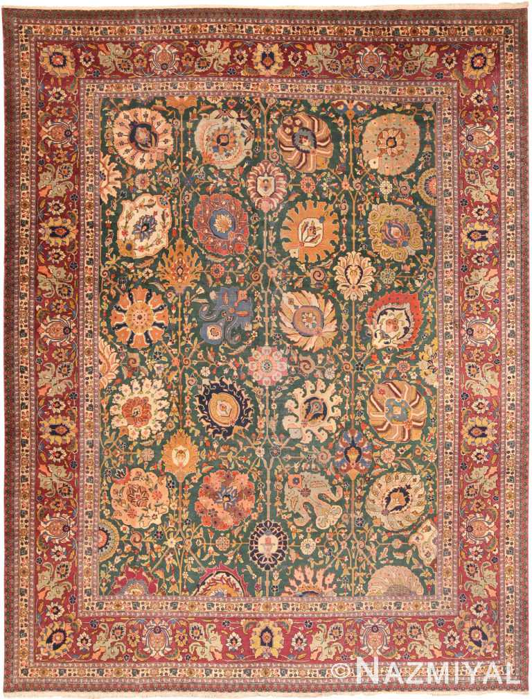 Antique Persian Tabriz Rug 70486 by Nazmiyal NYC