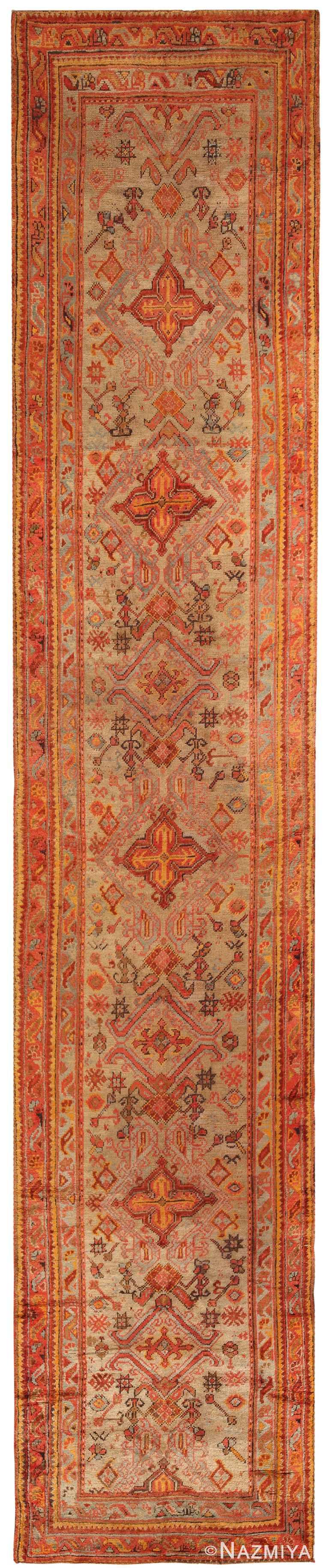 Antique Turkish Oushak Runner Rug 70276 by Nazmiyal NYC
