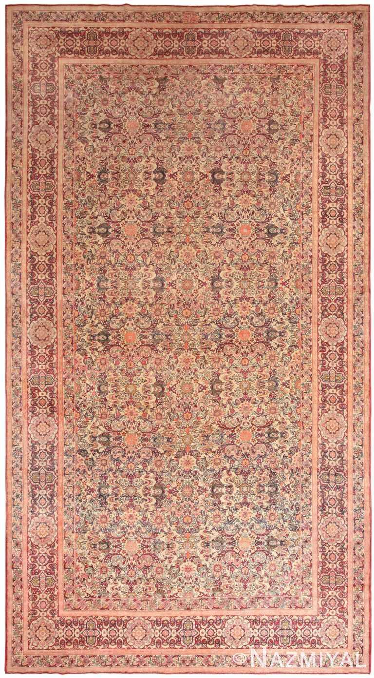 Large Antique Persian Kerman Rug 70079 by Nazmiyal NYC