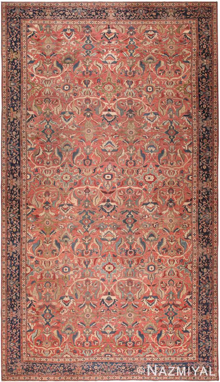 Oversized Antique Persian Sultanabad Rug 70384 by Nazmiyal NYC